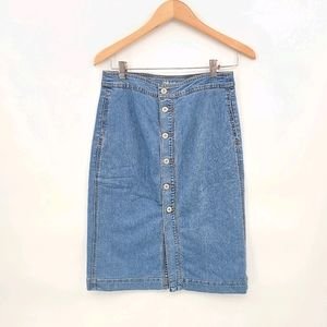 Style & Co. Casual Denim Pencil Skirt.